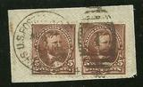 Sc. 223  F-VF pair tied on piece with 1894  SHANGHAI cancel    $95.00