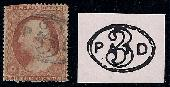 Sc. 26   1857-61 Regular Issue.  Faulty example with RARE Westborough, MA  PAID cancel   Net Price.....$275.00
