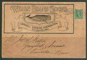 1909 WHALE BRAND socks illustrated advertising cover    $550.00