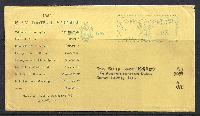 1945 Naval Academy football schedule on cover with meter franking.  Net Price.....$10.00