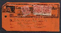 Sc. 641 used on mailing tag San Francisco to Corning, CA.  17 cent with 10 cent insurance (20 March 1944) $5.00 to $25.00     Net Price.....$125.00