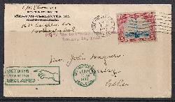January 10, 1930 Cedar City, Utah 'Interrupted Flight Cover' with auxiliary markings.   Net Price.....$60.00