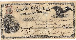 1872 Distillers & Rectifiers Bank Draft with Revenue franking.  Nice illustrations.  Net Price....$85.00